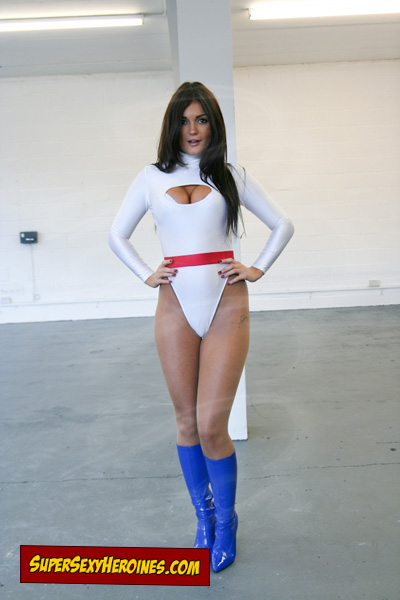 India Reynolds as Power Girl superheroine