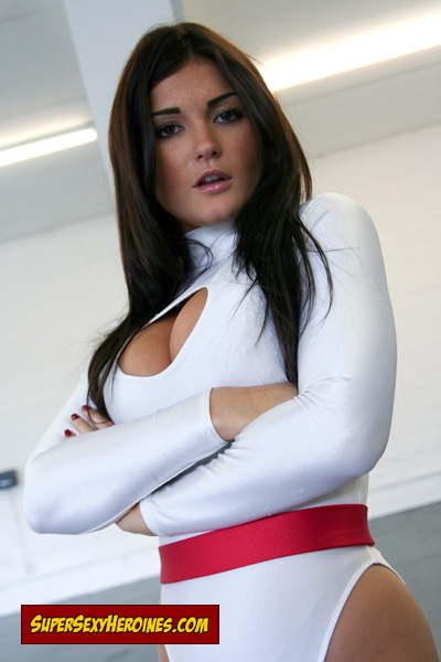 Sexy Power Girl superheroine India Reynolds