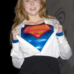 Molly Quinn Supergirl ripping open top
