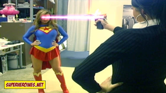 Supergirls heat vision heating up a gun