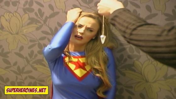 Jasmine Sinclair as Supergirl in peril