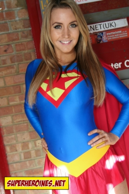 Model Catherine as Supergirl
