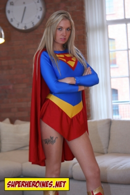 Emma Rose playing Supergirl