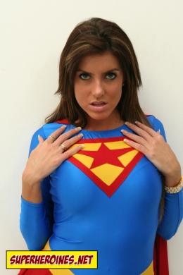 Fiona Graham in her Supergirl costume