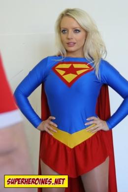 Hannah Claydon playing Supergirl