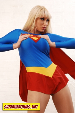 Iryna as Supergirl