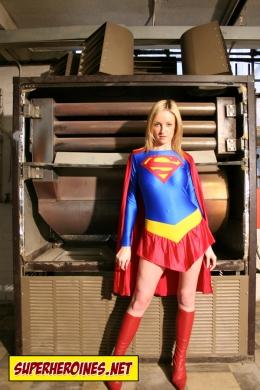 Sarah Sharpe as a young Supergirl