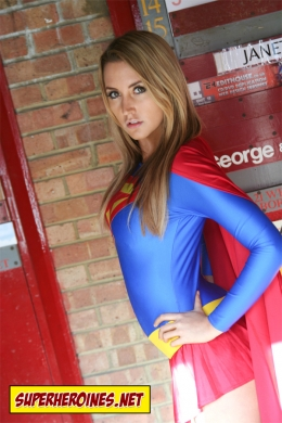 Supergirl posing for the camera