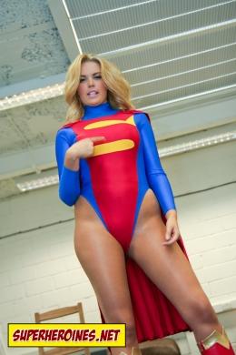 Porchia Watson as Sonic Girl in superheroine comic book